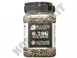 5000 x 6mm x 20g Grey Brown Ultra Mix Polished Airsoft BB Gun Pellets